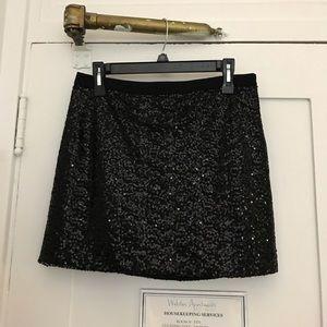 Jcrew Black Sequin Mini Skirt